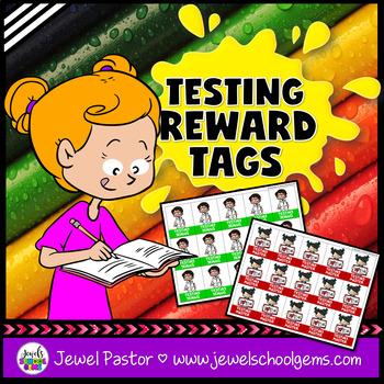 Testing Motivation Brag Tags (STEAM or STEM Testing Brag Tags)