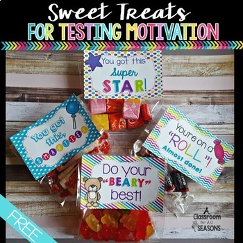 Testing Motivation: Sweet Treats Labels by A Classroom for ...
