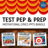 Testing Pep Rally Lyrics PPTs Bundle