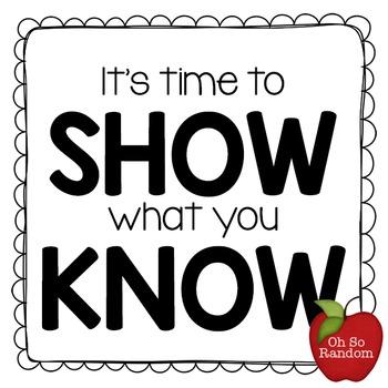 Testing Reward | SHOW What You Know
