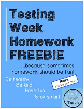 Testing Week Homework