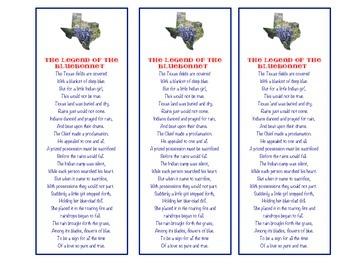 Texas Bluebonnets - Legend of the Bluebonnet