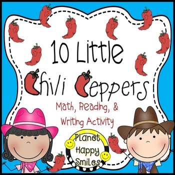 Texas Chili Pepper Activity ~ Math, Reading and Writing Activities, Planet Happy Smiles