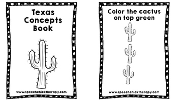 Texas Concepts Booklet for Speech and Langauge