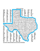 Texas County Word Search