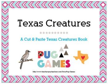 Texas Creatures: A Kindergarten Texas Animal Symbols Cut &