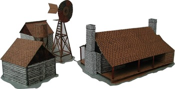 Texas Dog Trot House and Outbuildings