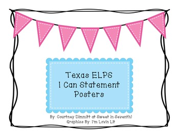 "Texas ELPS ""I Can"" Posters"
