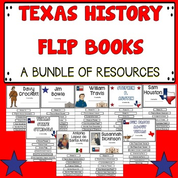 Texas History Flip Books