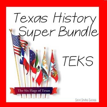 Texas History Super Bundle TEKS Correlations