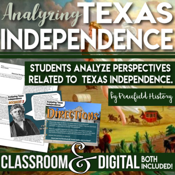 Texas Independence Primary Source Analysis - Compare Point