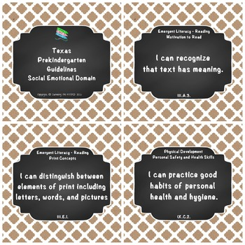 """Texas Pre-K 2016 """"I Can"""" Statements: Upcycled Kraft Paper,"""