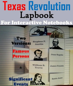 Texas Revolution Activity (Battle of the Alamo, Davy Crock