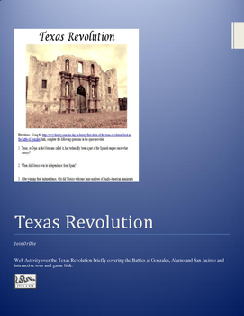 Texas Revolution WebQuest