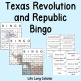 Texas Revolution and Republic Review Bingo
