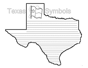 Texas Shaped Symbols Book and Writing Activity