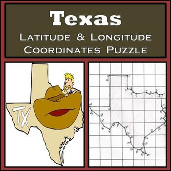 Texas State Latitude and Longitude Coordinates Puzzle - 42