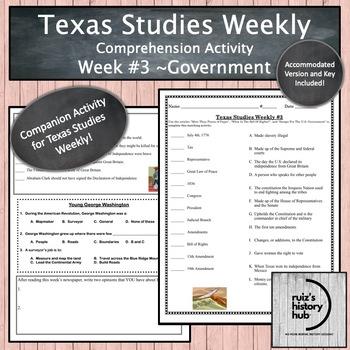 Texas Studies Weekly Newspaper #3 Bundle