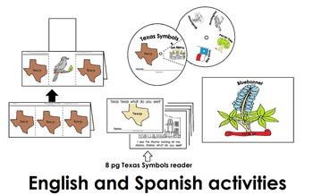 Texas Symbols Activities Pack (45pgs) Eng. & Spanish Cscop