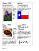 Texas Symbols Fact Cards