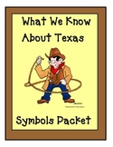Texas Symbols Packet for  kindergarten and 1st grade Socia