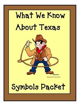 Texas Symbols Packet for  kindergarten and 1st grade Socia