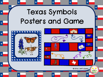 Texas Symbols Posters and Game
