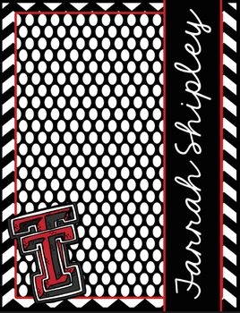Texas Tech(TM) Lesson Planner EDITABLE and Ultimate Classr