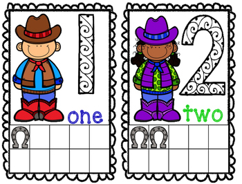 Texas Theme Math Frame Cards