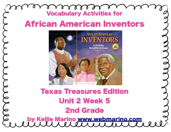 Texas Treasures Vocabulary Activities for African American