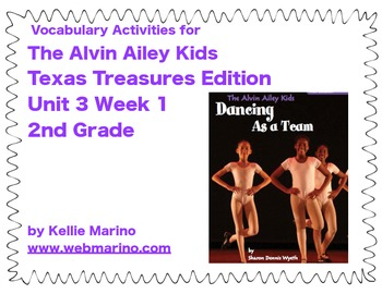 Texas Treasures Vocabulary Activities for The Alvin Ailey