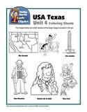 Texas Unit 4 Coloring Sheets and Clip Art