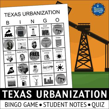 Texas Urbanization Bingo