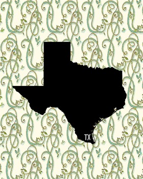 FREEBIE! Texas Vintage State Map or Poster Class Decor, Cl