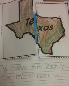 Texas and Texas Flag Interactive Journal Activity