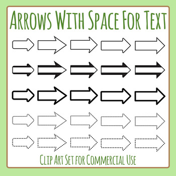 Text Arrows - Directional Arrows With Space for Writing Cl