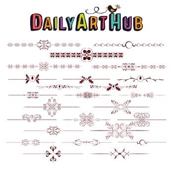 Text Art Divider Clip Art - Great for Art Class Projects!
