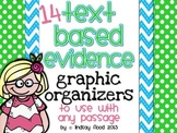 #indianaB2S Text Based Evidence Graphic Organizers