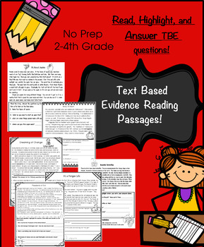 Non Fiction Reading: Text Based Evidence: Read, Highlight,