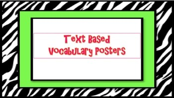 Text Based Vocabulary