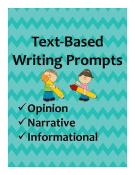Text-Based Writing Prompts (Multiple Genres) Plus Sorting