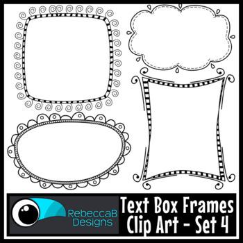 Text Box Frames Clip Art Set 4