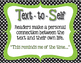 Text Connections Classroom Posters in Black, White Polka d