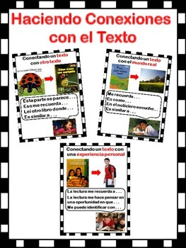 Text Connections Posters in Spanish - Conexiones del Texto