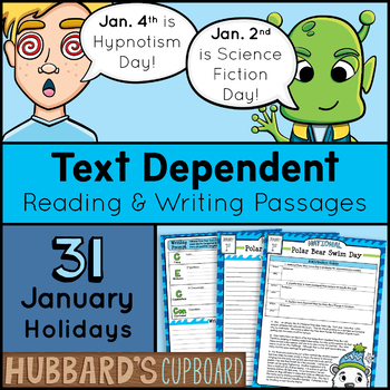 January Morning Work 4th -6th - Text Dependent - Daily Wri