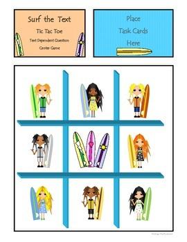 Text Dependent Comprehension Question Center