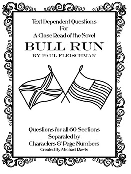 Text Dependent Questions for A Close Read of Bull Run by P