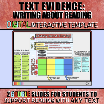 Text Detail Google Slide Anchor Chart and Student Interact