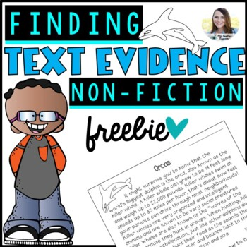 Text Evidence Citing Work Sheet (Non-Fiction Freebie!)