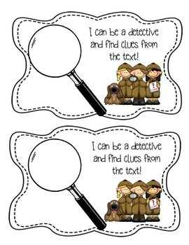 Text Evidence Detective Stick- Close Reading